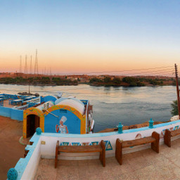 photography nile nileriver egypt nuba landscape panorama sunset