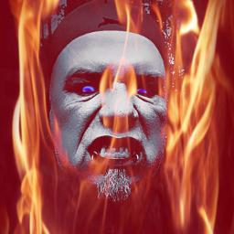 flame face fear