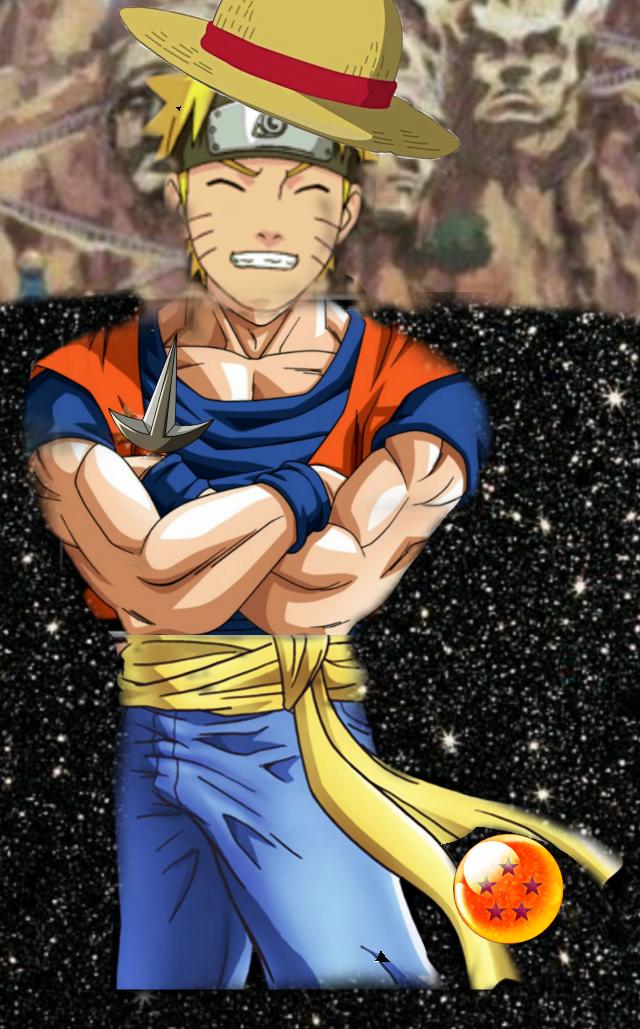 #Naruto Dragon Ball Z #Luffy #kunai de Minato #chapeau de Luffy #ciels étoilé#Konoha#fusion #stylée#drôle #Naruto Shippuden