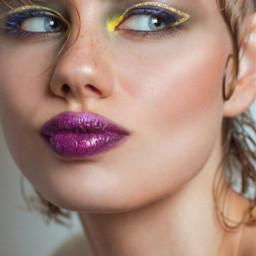 freetoedit glitter krygina kryginacosmetics face makeup lips sparkles eyes arrows gold magenta picsart пиксарт крыгина глиттер лицо макияж губы блёстки глаза стрелки золотой розовый