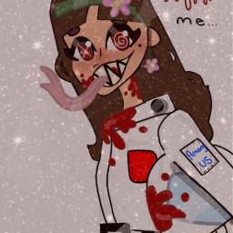 blood interesting amongus scary imposter part2 halloween warning among us art doodle freetoedit