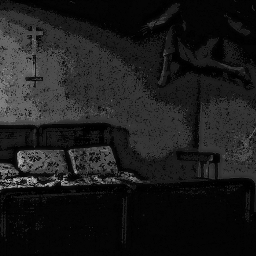 freetoedit remixit madewithpicsart halloween creepy theexorcist possessed horror dark demon hell eerie monster bed cross crucifix wall scary disturbing cursed blackandwhite whiteeyes
