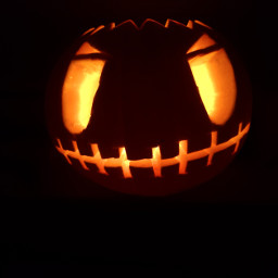 halloween pumpkin selfmade photography creepy scary
