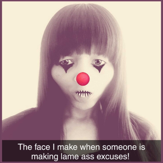 Lame ass excuses... #excuses #lame #clown #thefaceyoumakewhen #drdonnaquote #facetography #graphics #graphtography #realleader #realleaders #realleadership #becomearealleader #bearealleader #theturnaround #theturnarounddoctor #turnaroundeffect #theturnaroundeffect #turnarounddoctor #graphicdesign #drdonna #drdonnathomasrodgers
