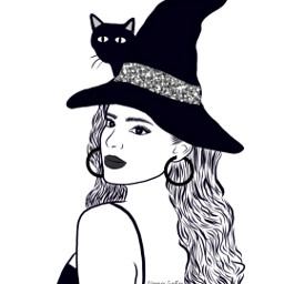 addisonrae mydrawing drawing outline outlinegirl outlines brushtool colorme witch halloweenscream freetoedit