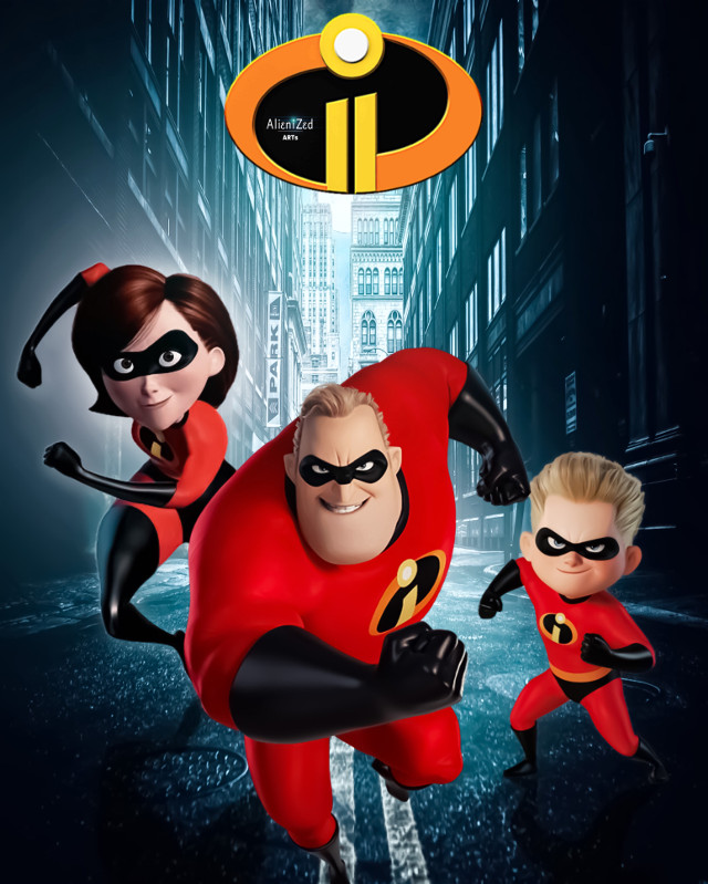 Hope you get an #incredible #cool friday and weekend planet 👋🏻👽👉🏻🍪☕️🍩@PA 😊  #theincredibles #pixar #waltdisney #fanart #heroes #superheroes #familly #city picture op #unsplash #alienized #wallpaper #remastered #uhd #editedwithpicsart