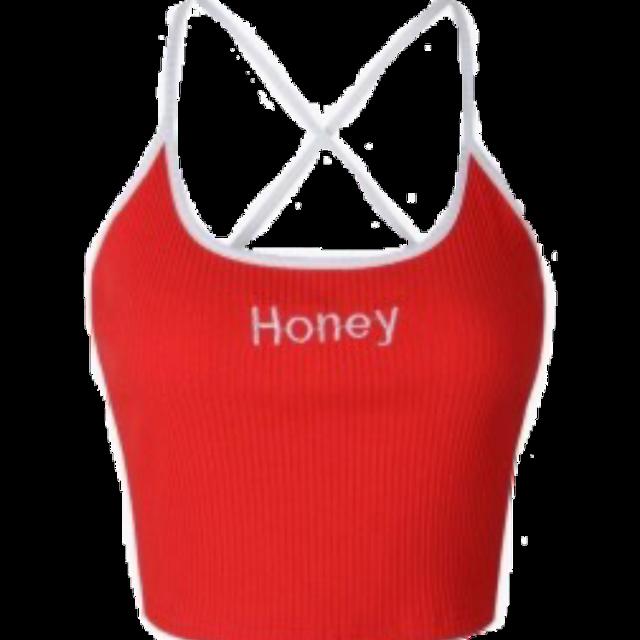 #croptop croptop red knit hone red croptop