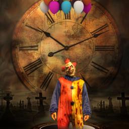 happyhalloween halloweenspirit halloweenscream clown surrealism art freetoedit