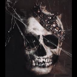 halloweenscream skeleton spooky creepy picsart freetoedit