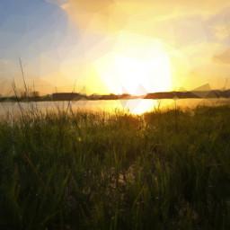 photography colorful sunrise pixelize freetoedit