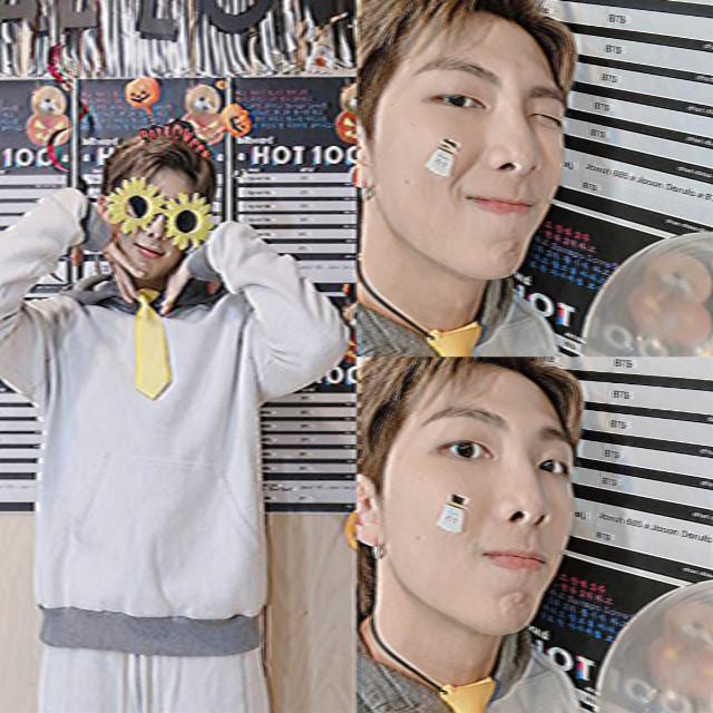 ♡ ao lado -> #kimnamjoon #bts #halloween