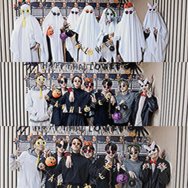 <- ao lado♡ #kimnamjoon #kimseokjin #minyoongi #junghoseok #parkjimin #kimtaehyung #jeonjungkook #bts #halloween