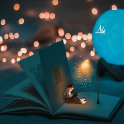boy book books lamp glow effects background magic moon bookworm picsart heypicsart aesthetic papicks freetoedit remixit