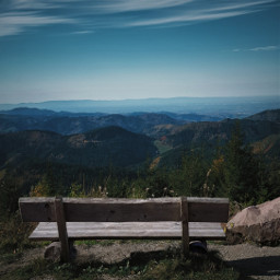 freetoedit landscape bench blackforest photography