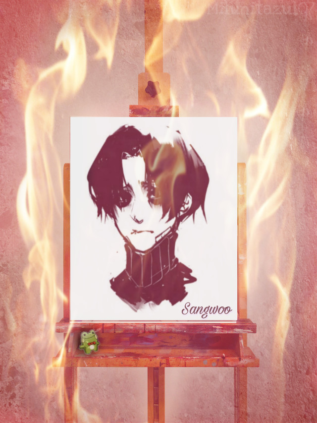 #sangwoo #yoombum #stalkingkilling #fuego #pintura@picsart #retrato #manhwa