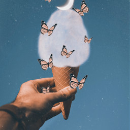 icecream candyicecream butterflies moon awesome nice simple picsart picsartedit freetoedit