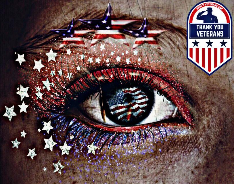 #veteransday #thankyou #thankyouforyourservice #eye #art #redwhiteandblue #stars #glitter