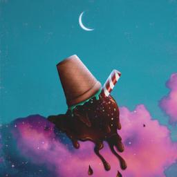 madewithpicsart chocolate myedit mydrawing icecream pinkclouds creativity skylovers magic surrealart myphoto