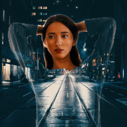 unsplash art replay transparent surrealism transparentclothes city street freetoedit