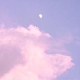 pinkclouds cloudsandsky cottoncandyclouds moon skylover naturephotography sunset myoriginalphoto freetoedit