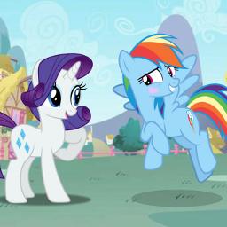 mlp mylittleponyfriendshipismagic mylittlepony friendship rainbow rainbowdash rarity raridash rainbowty ponyville