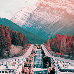 picsart myedit myremix surreal freetoedit sky photomanipulation photoart fxeffects earthplanet autumn cbr cyber unsplash street mountains landscape