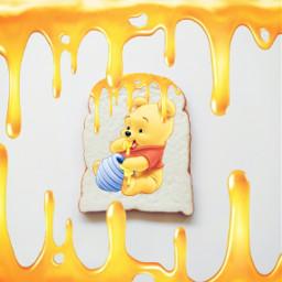 pooh toast winniethepooh freetoedit ircmyfavoritetoast myfavoritetoast