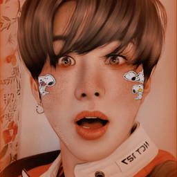 kimjungwoo jungwoo junguwu snoopy stickers manipulation manip kpop kpopedit edit manipulationedit