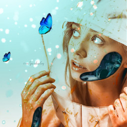 robotgirl surrealart fantasy freetoedit