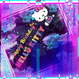 challange happybirthdayhellokitty happybirthday kitty picsartchallenge clouds sparkles glitter bling stickers interesting art birthday party japan senario characters happy cat cool backrounds imagine colors playingaround freetoedit echappybirthdayhellokitty hbdhellokitty