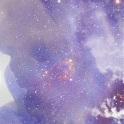 freetoedit milkyway purple glitters wallpaper
