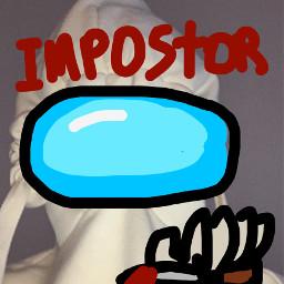 freetoedit impostor amongus imposter among us sus knife blood character