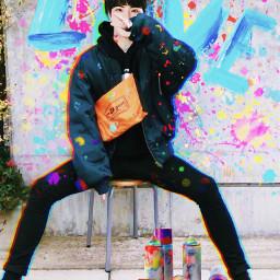 bts art jin picsart graffiti kpop freetoedit