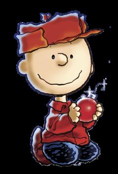 charliebrown charliebrowntree christmas peanuts peanutscharacter peanutsticker sticker aesthetic ornament red freetoedit