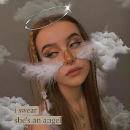 angel white brown girl pfp freepfp cute ibfs indie bruh bruhgirl emo goth skater basic girlygirl fyp