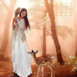 deer owl fantasy fantasyart imagination freetoedit srcnovembercalendar novembercalendar