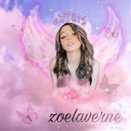 zoe laverne zoelaverne freetoedit remix pink glitter fan girls girly aestetic vibe glittery bratz barbie tictok picsart music artist people star famous queen angle buterfly