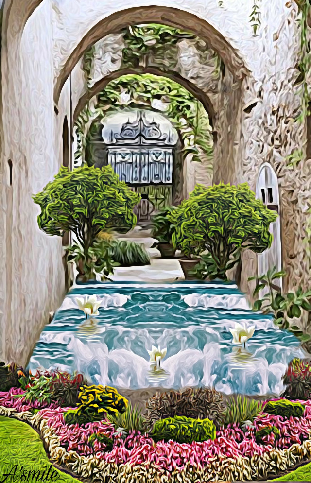 #@asweetsmile1 #blendedimages #blend #creative #creativeart #background #garden #flowers #beautiful