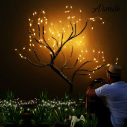 @asweetsmile1 fanart picsart blendedimages blend lights dog tree treelights man beautiful freetoedit