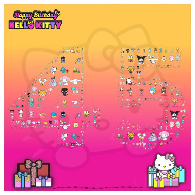 #hellokitty #hellokittybirthday #hallokittyhappybirthday #batzmaru #gudetama #aggretsuko #pochacco #mymelody  #cinnamonroll #keroppi #hangyodon #chococat #tuxedosam #kuromi #littletwinstars #sanrio #art #45birthday #gifts