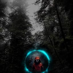 imageedit picsart unsplash child strange apparition weird road darkforest smokeeffect freetoedit
