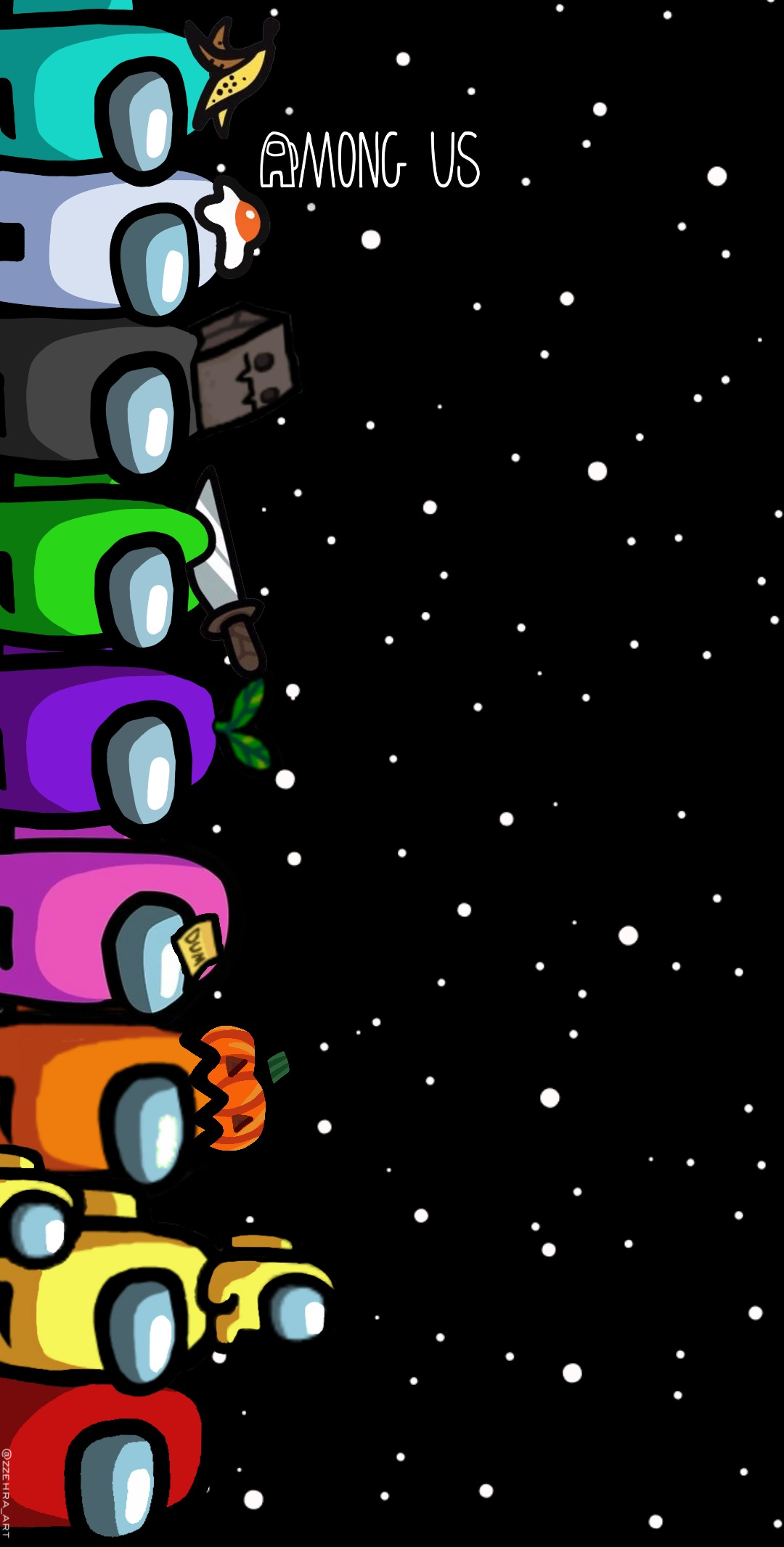 Amongus Game Wallpaper Black Image By Zehra