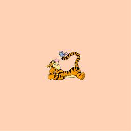 tigger poohbear winniethepoohandfriends friends orange tiger orangetiger wallpaper pastel orangepastel wallpapers pastelwallpaper pastelwallpapers freetoedit