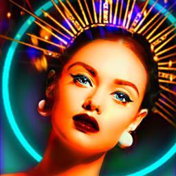 myoriginalwork originalart conceptart womanportrait colorful rcneonlight freetoedit
