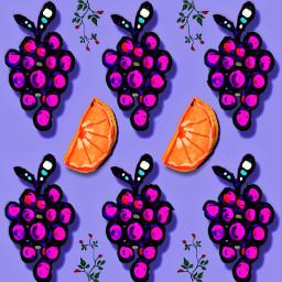 grapes drawing fruit orange pattern freetoedit ecpatternmaking patternmaking