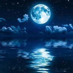 tublr white moon blue