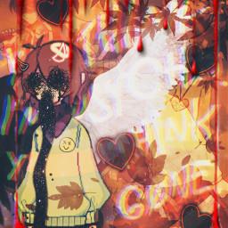 deltarune undertale soul angel demon monster boy kris heart determination game wings smile autumnleaves depression crazy twosides mad wow choices weapon friends jevil blood killer freetoedit