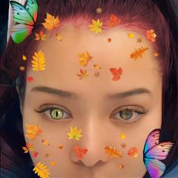 freetoedit woman beautifytool changedhaircolortorred erasetool brushestool autumnleaves madewithpicsart edittheseinyourownstyleeditingchallenge edittheseinyourownstyle ecedittheseinyourownstyle