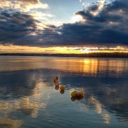 sunset reflection lake hdr panorama naturephotography naturebeauty clouds sky