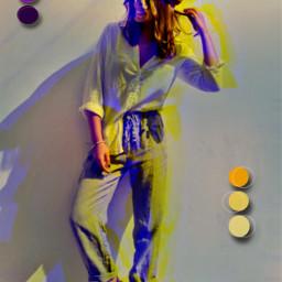 glitch glicheffect girl beautifulgirl interesting aesthetic aestheticedit aestheticgirl standing colorful myedit myart editedbyme freetoedit